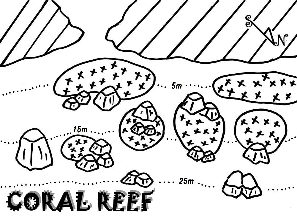 SIMILAN DIVE SITE MAP:CORAL REEF