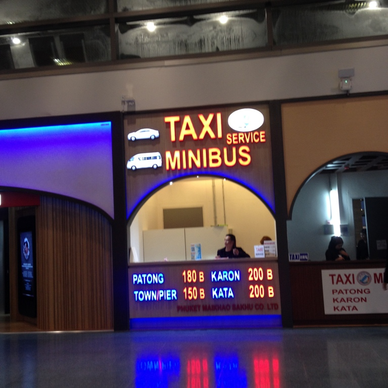 phuket international terminal Exit-Taxi Counter