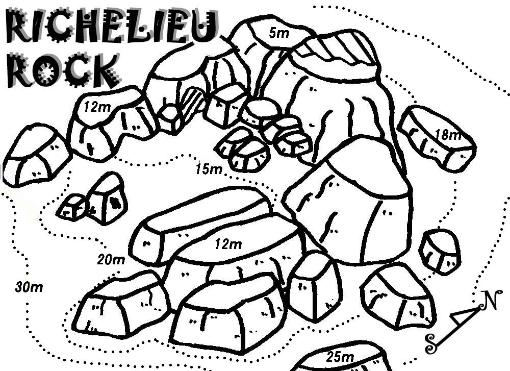 SURIN DIVE SITE MAP:RICHELIEU ROCK